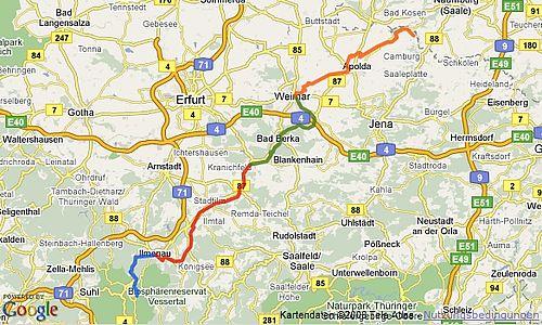 Ilmtal Radwanderweg - Thüringen