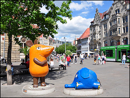 Kika Figuren am Anger in Erfurt