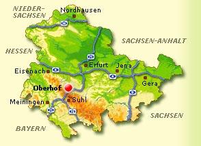 oberhof karte Landkarte Oberhof   Deutschland Karte oberhof karte