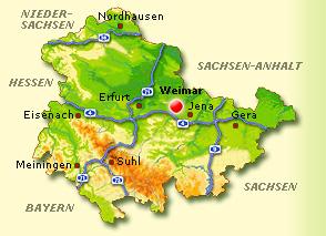 Karte Weimar Und Umgebung.Weimar Thuringen