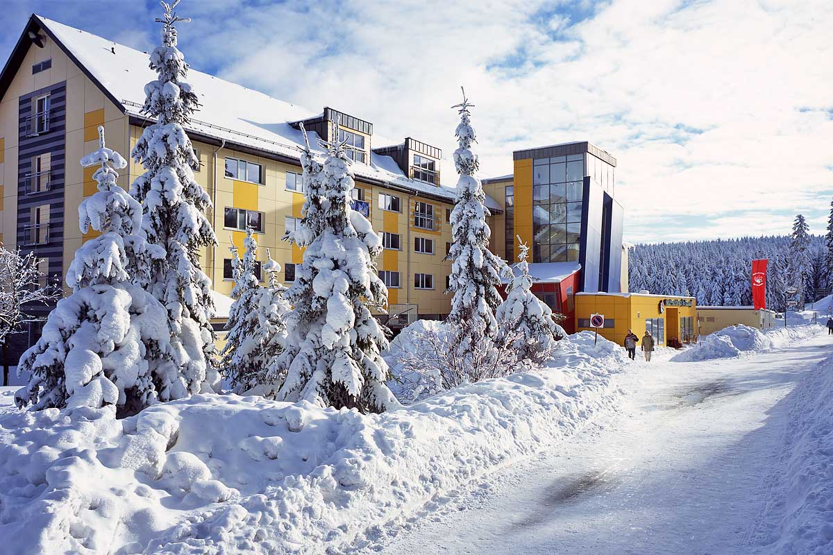 Ferienzentrum Oberhof im Winter