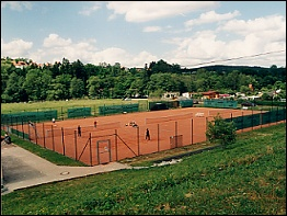 Tennisplatz in der Nähe der Pension
