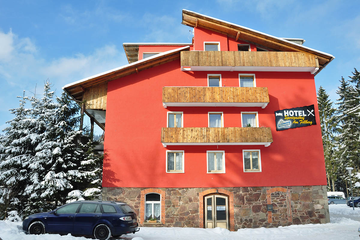 Sportgasthof am Fellberg im Winter