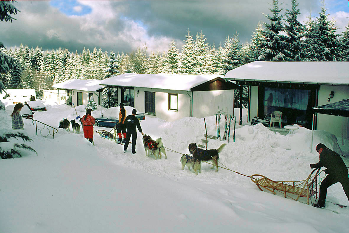Winteransicht Appartement Bungalows